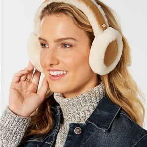 Ugg Earmuffs Chestnut with Suede and Fleece